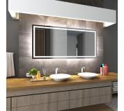 Koupelnové zrcadlo s LED osvětlením 100x90 cm ATLANTA