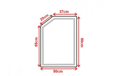 Koupelnové zrcadlo s LED osvětlením 50x80 cm ATLANTA ATYPICKÉ