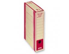 Archivační box HIT Board natur A4 330x260x75mm červená, archivační krabice