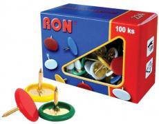 Připínáčky barevné RON 224 100ks