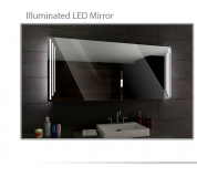 Koupelnové zrcadlo s LED podsvícením 104x90 cm PRAGA