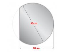 Koupelnové zrcadlo kulaté s LED podsvícením Ø 95 cm BALI ATYP
