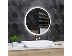 Koupelnové zrcadlo kulaté DELHI s LED podsvícením Ø 55 cm