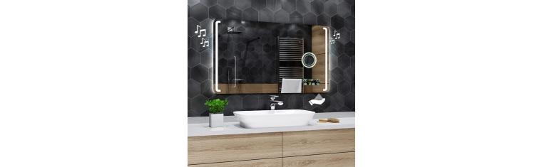 Koupelnové zrcadlo s LED podsvětlením 120x60 cm OSLO