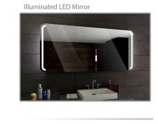 Koupelnové zrcadlo s LED podsvětlením 120x70 cm OSLO