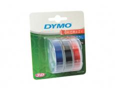 Páska Dymo 3D, 9 mm x 3 m, MIX - černá, modrá, červená, 1 blistr / 3 ks, S0847750