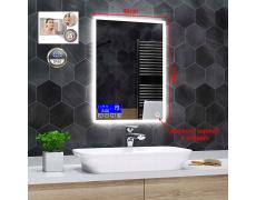 Koupelnové zrcadlo s LED podsvícením 40x60cm BOSTON ,IP44, NEUTRÁLNÍ, CONTROL PANEL, ANTIPÁRA + DOTYK