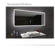 Koupelnové zrcadlo s LED podsvícením 130x75cm BOSTON