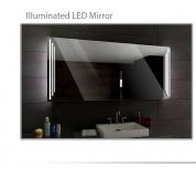 Koupelnové zrcadlo s LED podsvícením 120x70 cm PRAGA