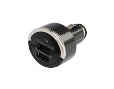 Adaptér USB 2w1 1A/2.1A , USB nabíječka 12-24V, mini (2x, max.2100mA,DC 5V+-5%) autozapalovač