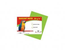Barevné papíry A4 80g 100ls světle zelené