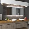Koupelnové zrcadlo s LED podsvícením 90x65 cm SEOUL