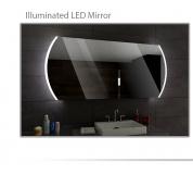Koupelnové zrcadlo s LED podsvětlením 120x70 cm BALTIMORE