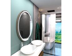 Koupelnové zrcadlo kulaté LONDON PREMIUM s LED osvětlením Ø 80 cm