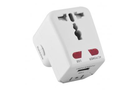 Cestovní adaptér pro mnoho zemí  s USB Forever