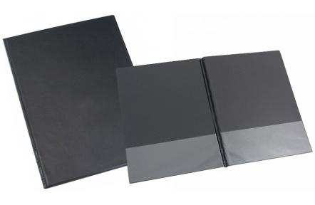 Desky SPORO spodní kapsy černá A4 desky plastové