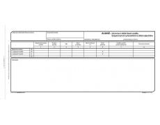 Alonž záznam o provozu vozidla nákl.dopravy  OP167