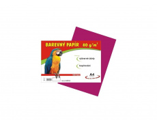 Barevné papíry A4 80g 100ls růžové