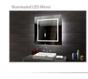 Koupelnové zrcadlo s LED podsvětlením 90x90 cm SOFIA