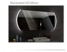 Koupelnové zrcadlo s LED podsvětlením 145x83 cm BALTIMORE