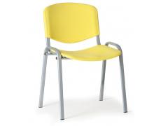 Konfereční židle plastová ISO žlutá, šedý kov židle konferenční