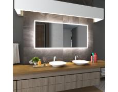 Koupelnové zrcadlo s LED podsvícením 140x100cm BOSTON