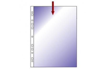 Obal na doklady s EURODĚROVÁNÍM A4 hladký modrý transparentní 100ks