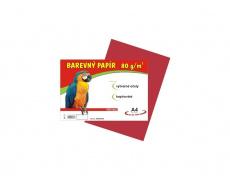 Barevné papíry A4 80g 100ls červené
