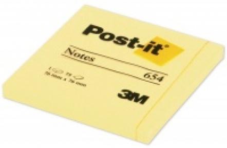 Samolepící bloček 76x76m silně lepící  654 Post-it 100 listů