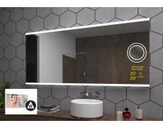 Koupelnové zrcadlo s LED podsvícením 125x80 cm BRASIL , IP44, NEUTRÁLNÍ, osvět.zrcátko, meteostanice č,1, antipára