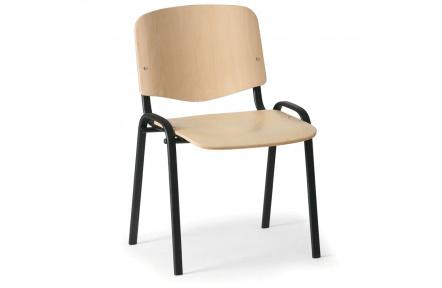 Konferenční židle dřevěná ISO, černý kov , židle konferenční