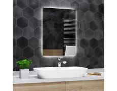 Koupelnové zrcadlo s LED podsvětlením 80x150 cm DUBAI, hranaté