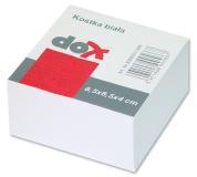 Kostka papírová lepené listy 8,5x8,4cm , bílé