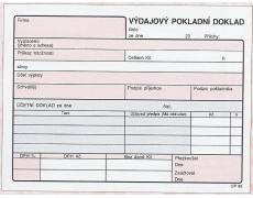 Výdajový pokladní doklad NCR OP83