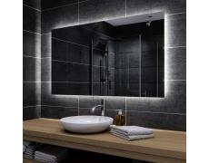 Koupelnové zrcadlo s LED podsvětlením 90x45 cm DUBAI