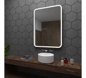 Koupelnové zrcadlo s LED podsvícením 60x70 cm OSAKA