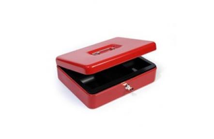 Přenosná pokladna HFM300A červená, pokladnička