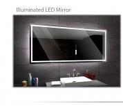 Koupelnové zrcadlo s LED osvětlením 130x80 cm ATLANTA