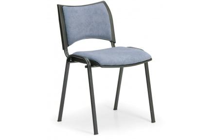 Konfereční židle čalouněná Smart šedá, černý kov, židle konferenční