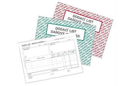Dodací list daňový doklad A6 samopropisovací PT130
