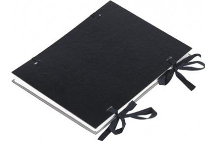 Spisové desky s tkanicí potažené černé
