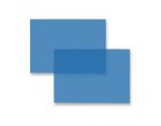 Přední stran pro kroužkové vazače A4 PVC fólie modrá 200mic 100ks