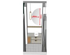 Koupelnové zrcadlo atypické s LED podsvícením Ø 60x120 cm BALI podsvětlené