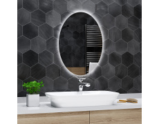 Koupelnové zrcadlo elipsovité s LED podsvětlením 60x80cm TOKIO