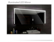 Koupelnové zrcadlo s LED podsvětlením 140x100cm SYDNEY