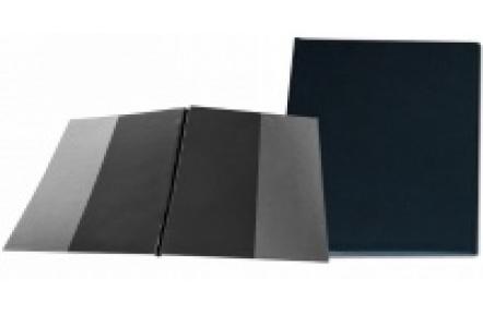 Desky SPORO boční kapsy černá A4 desky plastové