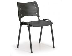Konfereční židle plastová Smart černá,černý kov,  židle konferenční