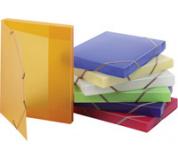 Krabice s GUMOU OPALINE zelená transparentní, box na spisy s gumou