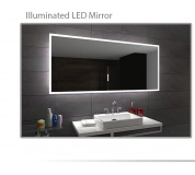 Koupelnové zrcadlo s LED podsvětlením 80x80 cm BOSTON