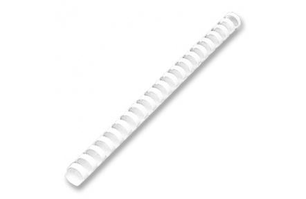 Hřebeny plastové vazací pr.6mm 100ks  bílá pro plastovou vazbu , kroužková vazba
